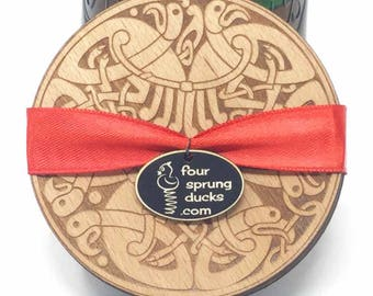 CELTIC DESIGN coasters.4 wooden coasters.Celtic gift.Ireland coaster knotwork designs.Book of Kells, Durrow.Triple knot, celtic cross.