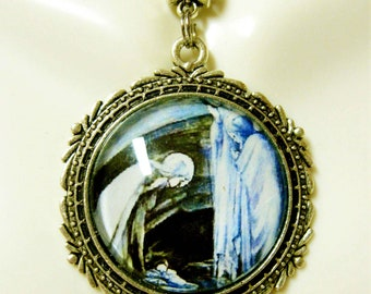 Blue Nativity pendant and chain - AP26-141