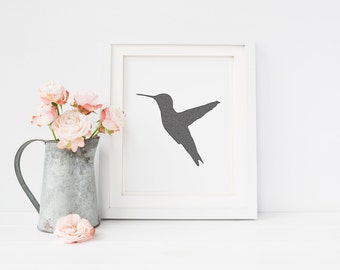 Hummingbird Drawing Print