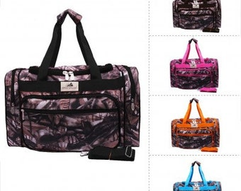 New Camo Print Carry on Shoulder Duffle Bag  WITH FREE MONOGRAM