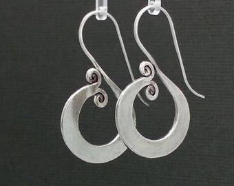 Sterling Silver Swirl Spiral earrings