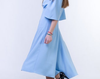 CLEARANCE - one size sale Sky blue dress Sky blue mother of the bride dress Mother of the groom dress Modest wedding guest dress