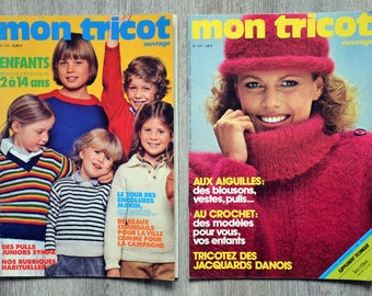 Set of 2 magazines Mon Tricot book (Vintage)