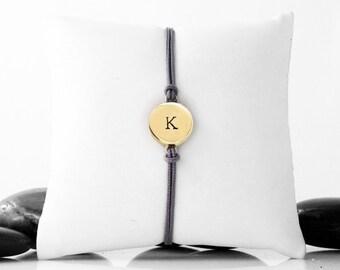 Initial Friendship Bracelet in Brass
