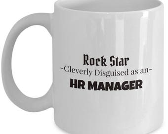 Human Resources Manager Coffee and Tea Mug | Gift for HR Manager | Present for HR Worker