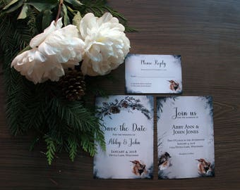 Winter Wedding Invitation Sample Set