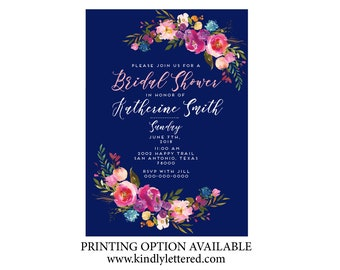 Bridal Shower Invitation-Bridal Party Invitation-Bridal Shower-Digital File-Shower Invitation-Modern Wedding