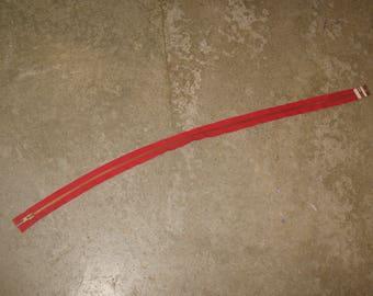1 85 cm separable red brass zipper