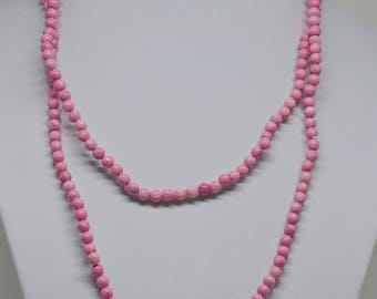 Pink Color Beaded Necklace