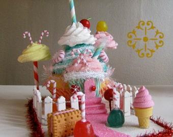 "Cupcake Land Collection Sugar Plum Village 2011 Limited Edition ""Cupcake Castle"" Original Design/Concept by 12 Legs Perfect Gift Idea"