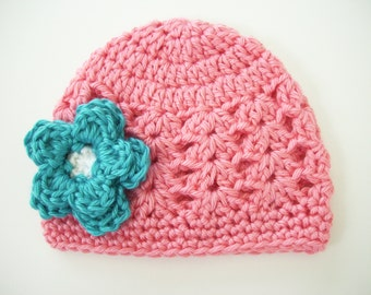 Baby Hat for Girls,  Baby Girl Photo Prop, Crochet Baby Hat, Newborn Hat, Newborn Photo Outfit, Baby Girl Hat, Newborn Girl Hat, Baby Girl