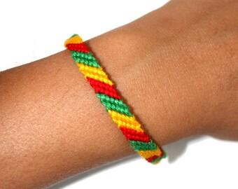 "Friendship Bracelet model ""M2"" rasta, unisex"