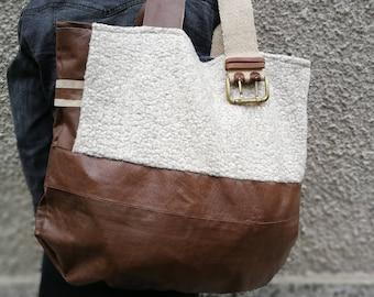 large brown leather tote bag shopper, Brown Shoulder Bag Genuine Leather Handbag Ladies Leather Purse Tote Bag Large bag