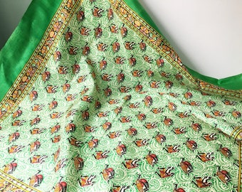 African Scarf Souvenir Scarf 1960s Scarf Tourist Scarf Collectible scarf silk scarf