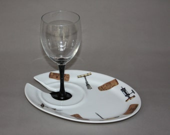Cocktail Plate Set with Vintage Design (6)