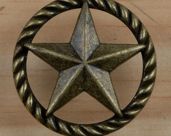Set Of 24   Thin Rope Star Drawer Pulls Or Cabinet Knobs. Western, Southwest