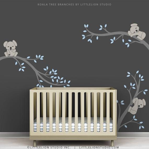 Blue Baby Boy Wall Decal Baby Nursery Tree Wall Sticker Decor - Wall decals nursery boy