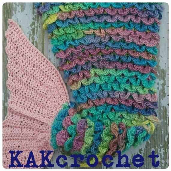 Crocodile stitch mermaid blanket Cocoon style Mermaid