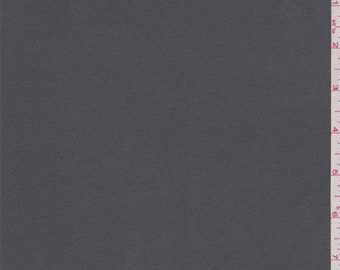 Iron Grey Polyester Activewear, Fabric By The Yard