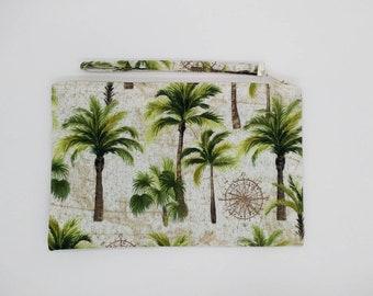 Tropical Palm tree print clutch, purse