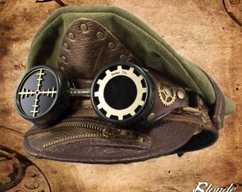 Steampunk Zipper Crush Cap