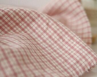 A Yard Pink CHECK Washing Cotton, U2248