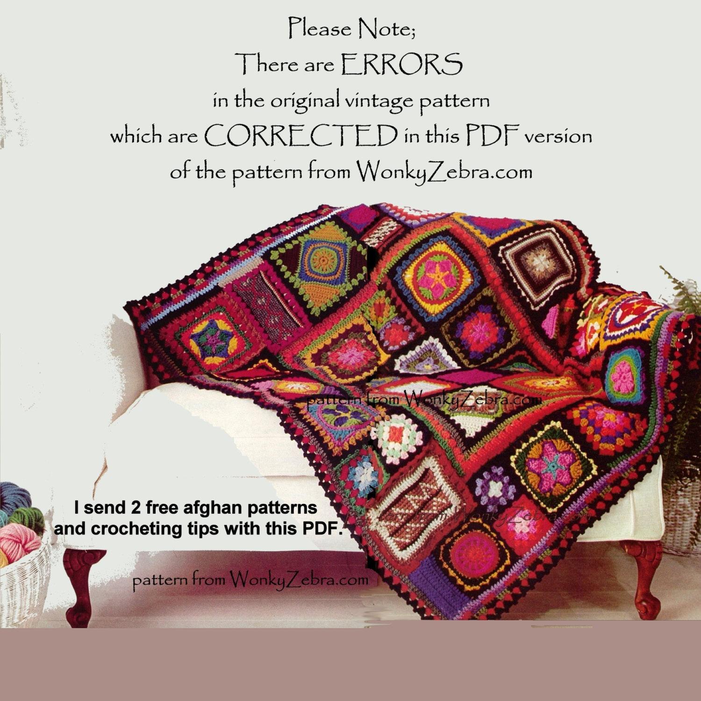 Gehäkelte Decke Muster 195 PDF afghanischen Oma Decke plus