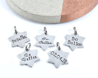 Additional Stainless Steel Star Charm To Add On To Bo Belles Key Chain