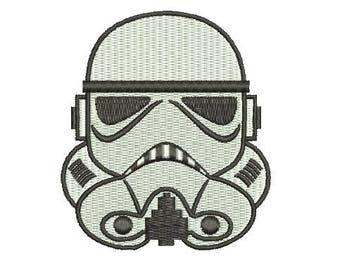 Stormtrooper Storm trooper Star Wars EMBROIDERY Fill Design Mini Machine Instant Download EN2078F1