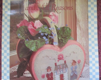 "Vintage Folk Art 1986 Decorative book ""Baskets For All Seasons And All Reasons"" by Debbie Nielsen 34 pages used book"
