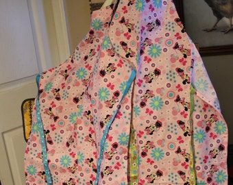 Two Pink Mickey Mouse Aprons (Large and Small)