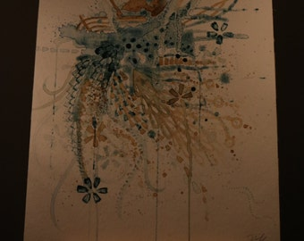 Drawing watercolor coffee by Peggy Spitzner 2014