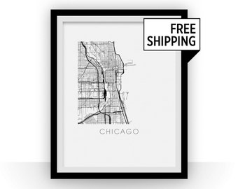 Chicago Map Print