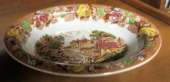 English Woodsware serving bowl English Scenery