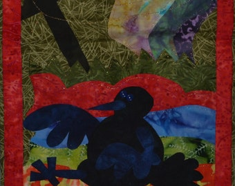 Wall Hanging Quilt - Crow - Northern - Corvidae