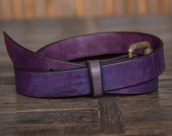 The Purple Leather Belt | Handmade Leather Belt | Made in the U.S.A. | Trekker Leather Co