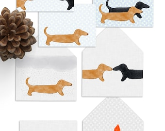 PDF Dachshund Card Stationary Set Instant Download Envelope and Card Sets Thank You Cards Notecards Gift Cards