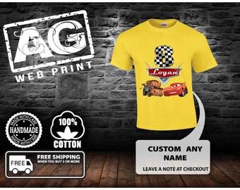 Cars Birthday Shirt - Cars Shirt -.