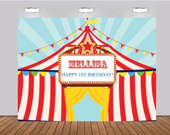 circus backdrop carnival backdrop circus poster circus