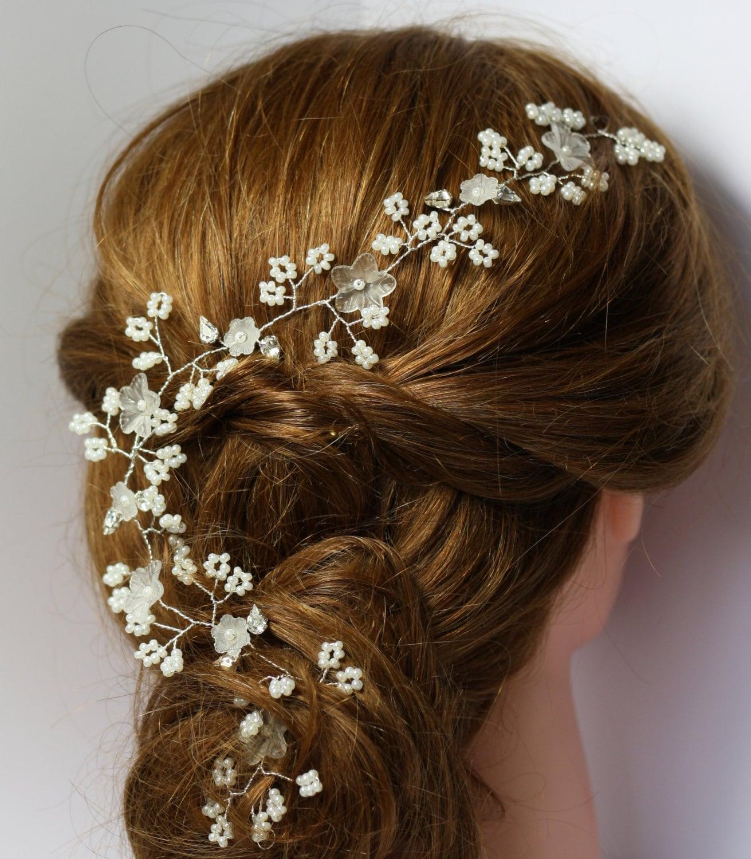 flower bridal hair vine bridal hair adornment floral hair