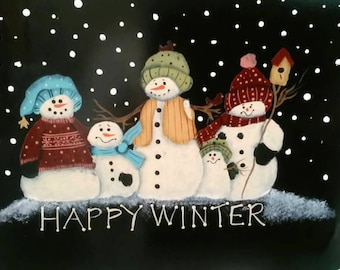 Happy Winter Hanging Door Sign