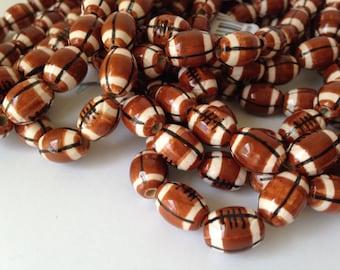 Ceramic Football beads