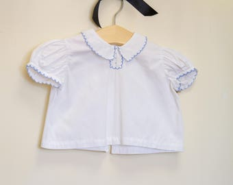 Vintage White Cotton Top P0999