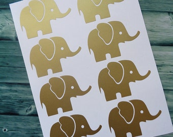 Set of 24, Baby Elephant Decal - Vinyl Decal Sticker, Elephant Wall Sticker,Baby Elephant Nursery,Nursery Decal Sticker, Elephant Wall Decor