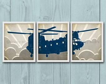 HELICOPTER - Chinook, Helicopter Art, Chinook Print, Nursery Art, Nursery Print, Baby Shower, Baby Boy, Baby Girl, Toddler Boy, Birthday