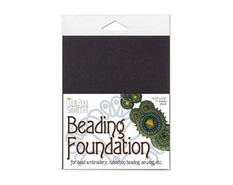 Black Beadsmith Beading Foundation, 43462 (4 sheet) 4.25x5.5inches, Bead Foundation, Beadwork Foundation, Bead Embroidery Backing, Soutache
