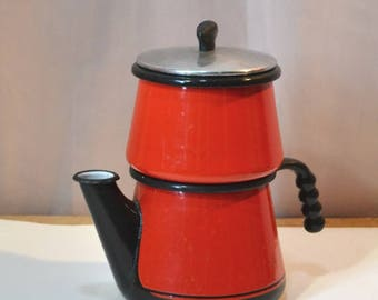 Sale Kook King Volrath Coffee Pot Red Enamel Coffee Pot