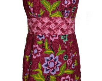 Made to Measure Dress with Low Sweetheart Neckline
