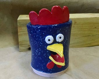Navy Speckled Rooster Egg Separator