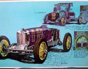 1929 Harry Miller Racer First Front Wheel Drive Racing Race Car Print